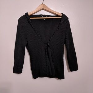 ANTHRO KNITTED & KNOTTED CARDIGAN